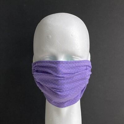 Purple Polka Dots Reusable Cloth Face Mask