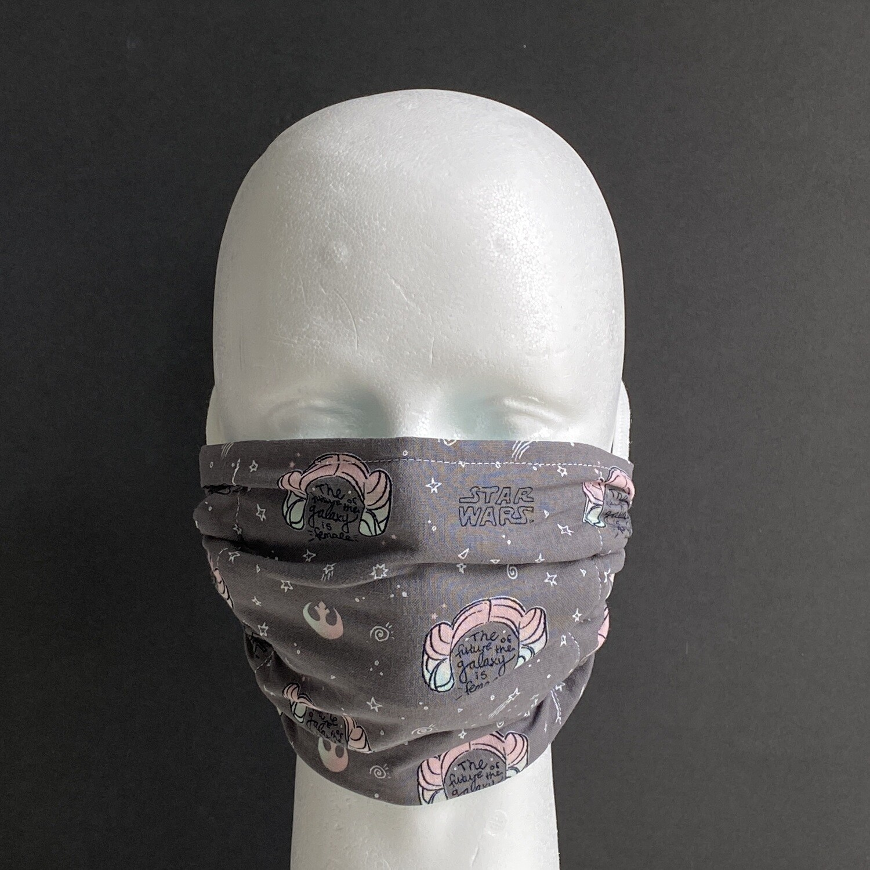 Rebel Princess Buns Adjustable Reusable Cloth Face Mask