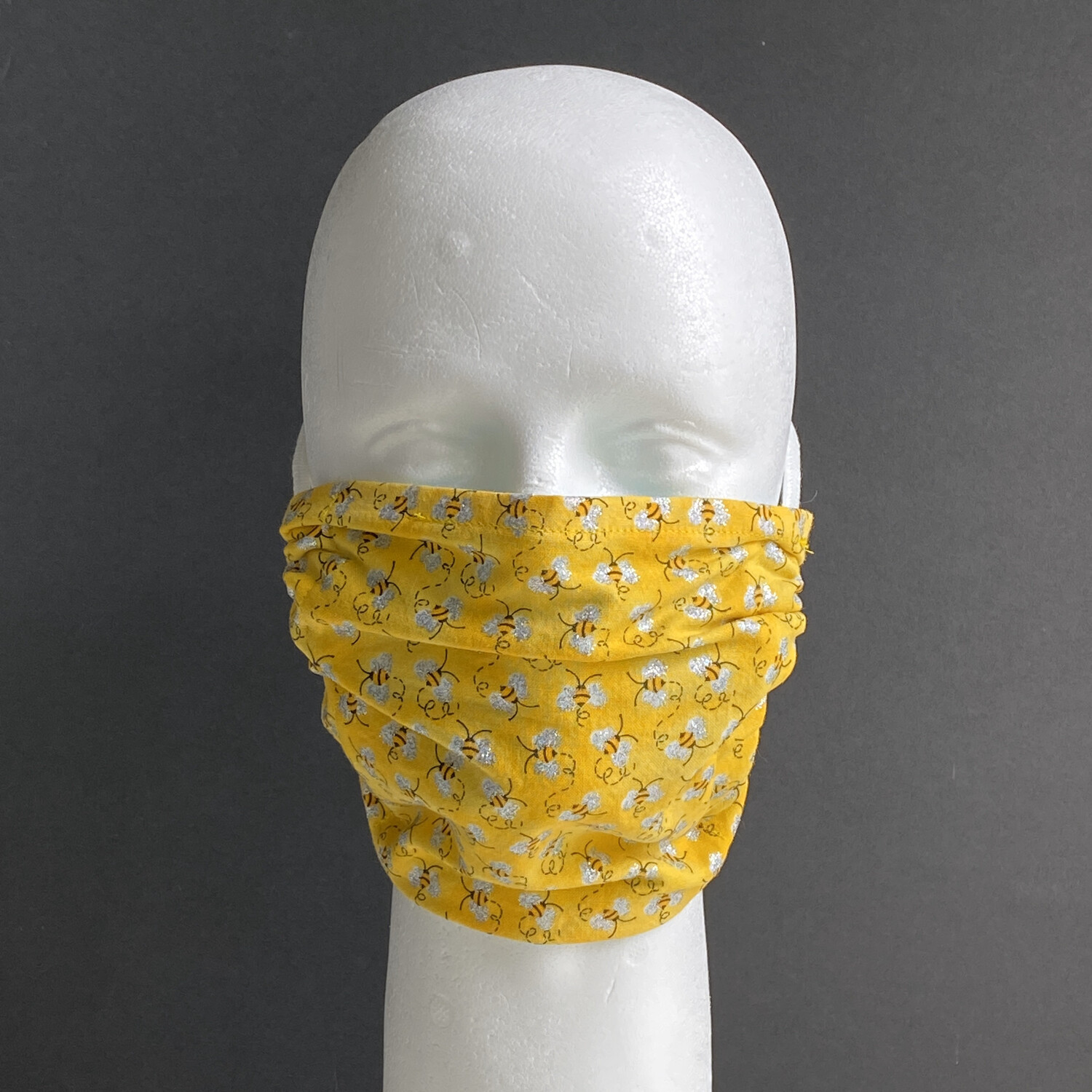 Mini Bees With Glitter Reusable Cloth Face Mask