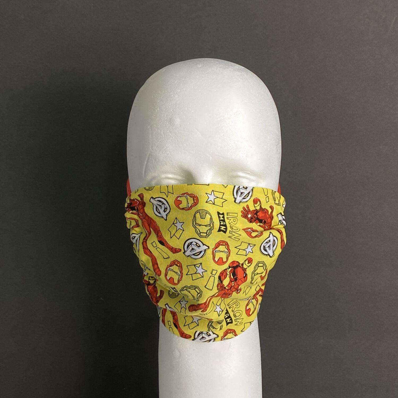 Doodle Iron Man Adjustable Reusable Cloth Face Mask