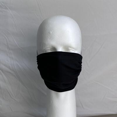 Solid Black Adjustable Reusable Cloth Face Mask