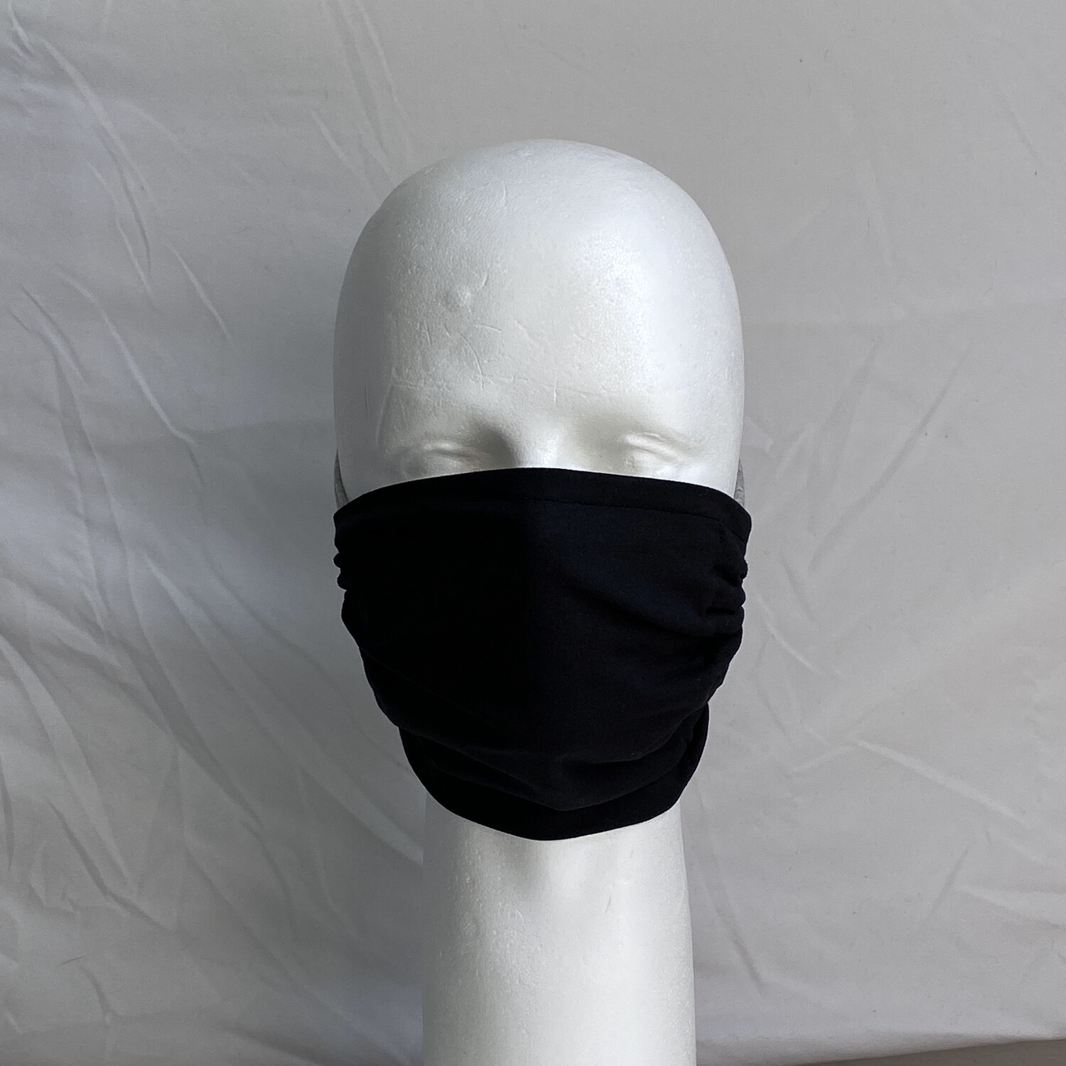 Solid Black Adjustable Reusable Cloth Face Mask