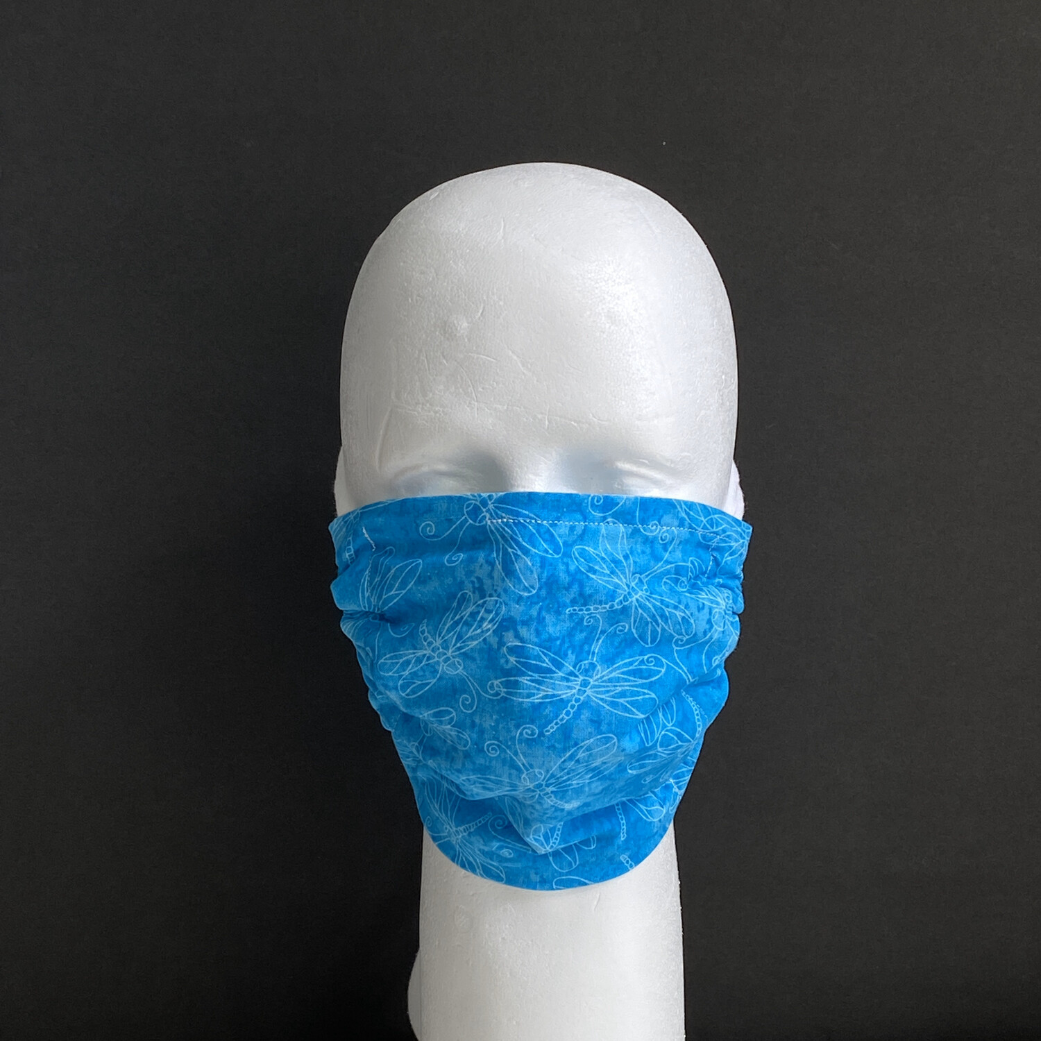 Dragonfly On Turquoise Adjustable Reusable Cloth Face Mask