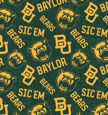 College Baylor University Adjustable Reusable Cloth Face Mask