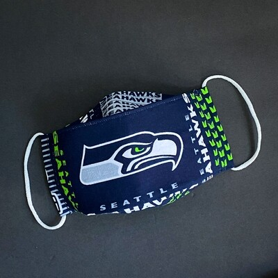 READY TO SHIP EasyFit NFL Football Seattle Seahawks Reusable Cloth Face Mask