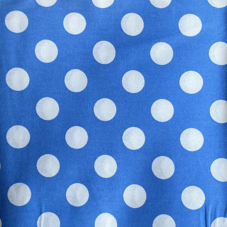 EasyFit Large Polka Dot on Blue Reusable Cloth Face Mask