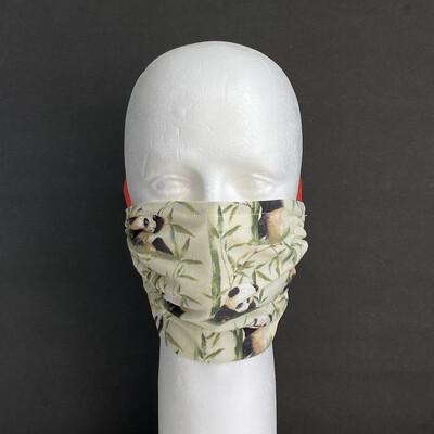 Pandas and Bamboo Adjustable Reusable Cloth Face Mask
