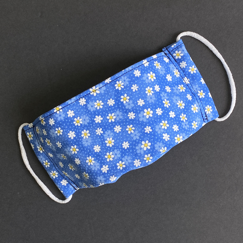 EasyFit Daisies On Blue Reusable Cloth Face Mask