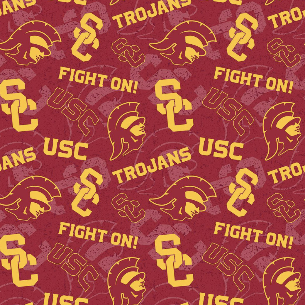 EasyFit College USC University of Southern California Trojans Reusable Cloth Face Mask