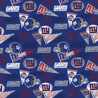 Football New York Giants Retro Adjustable Reusable Cloth Face Mask