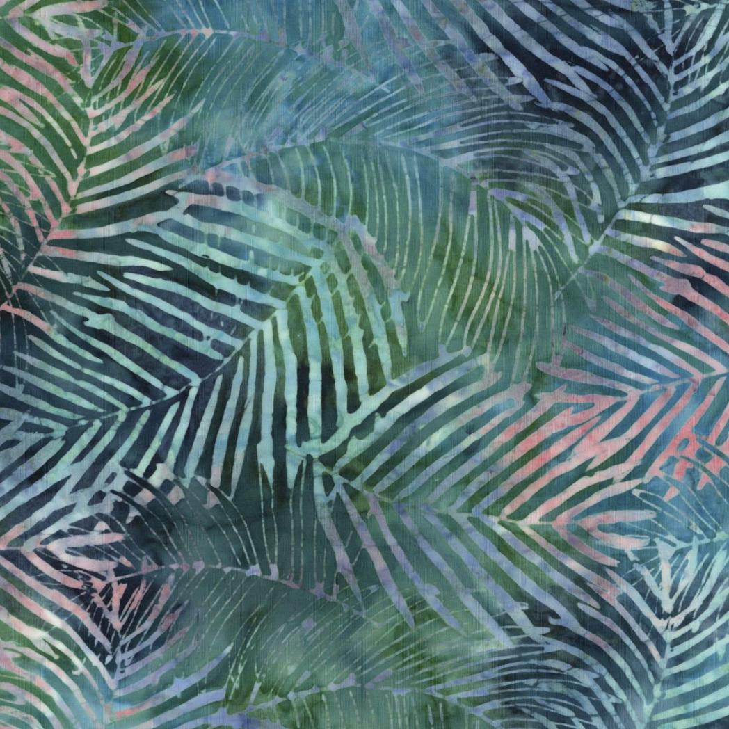 Indonesian Batik Tropical Leaves Adjustable Reusable Cloth Face Mask