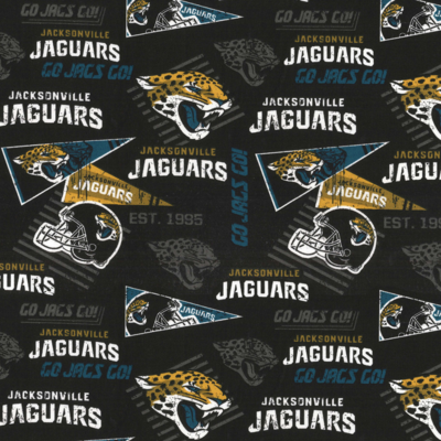 Football Jacksonville Jaguars Adjustable Reusable Cloth Face Mask