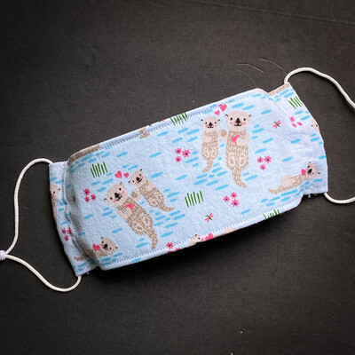 EasyFit Playful Otters Reusable Cloth Face Mask