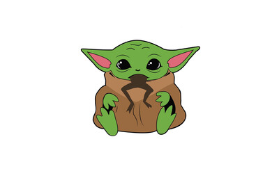 EasyFit Baby Yoda Eats Frog Reusable Cloth Face Mask