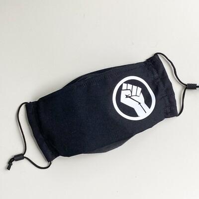 EasyFit Black Lives Matter Fist Reusable Cloth Face Mask