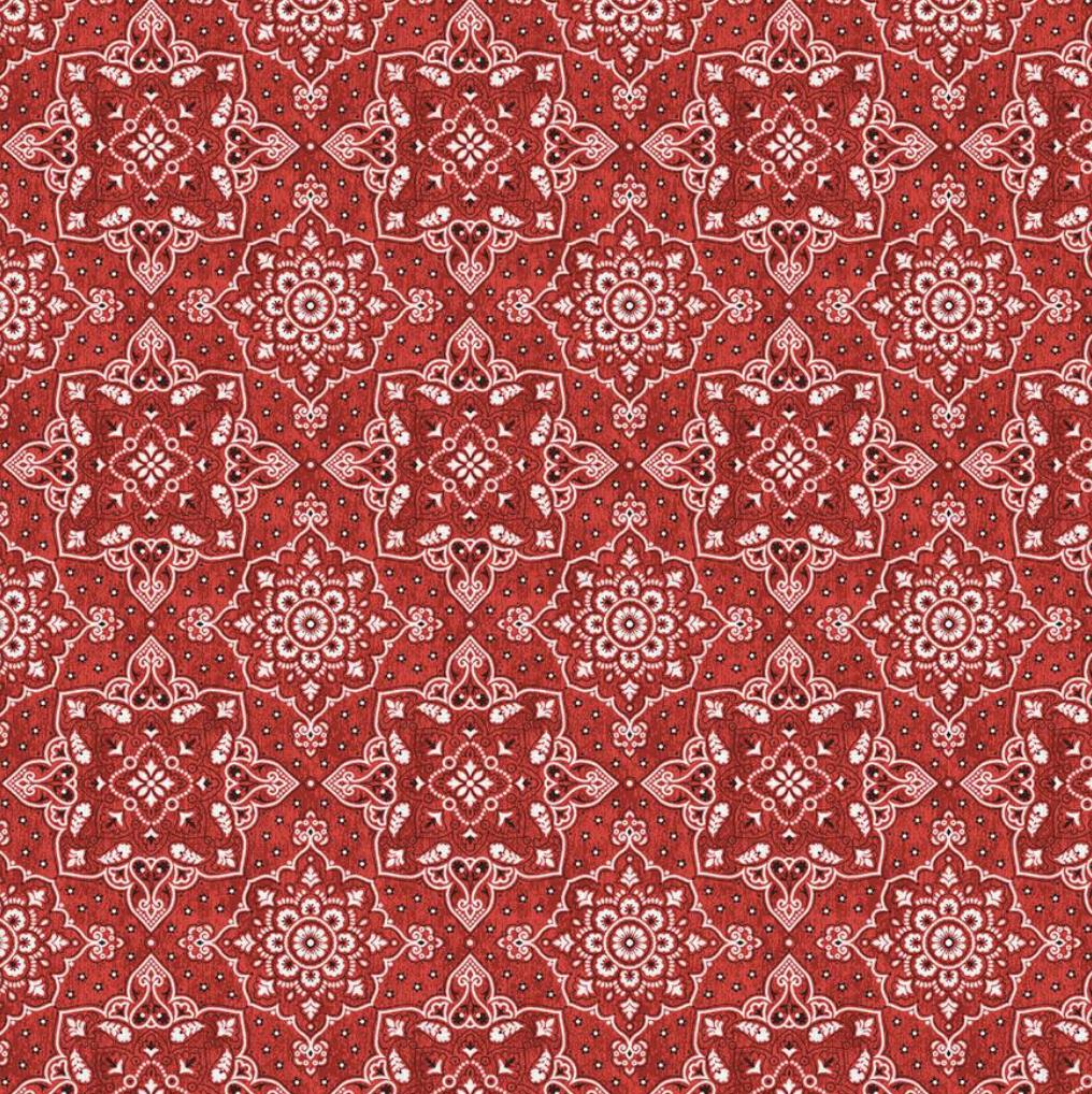 EasyFit Bandana Print Red Reusable Cloth Face Mask