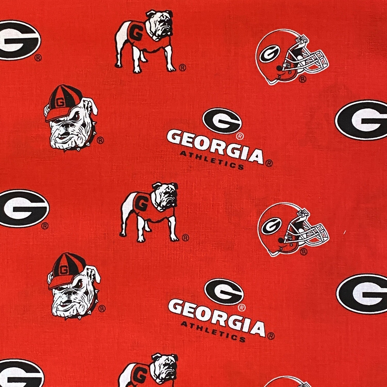 EasyFit College Football University of Georgia Bulldogs Reusable Cloth Face Mask