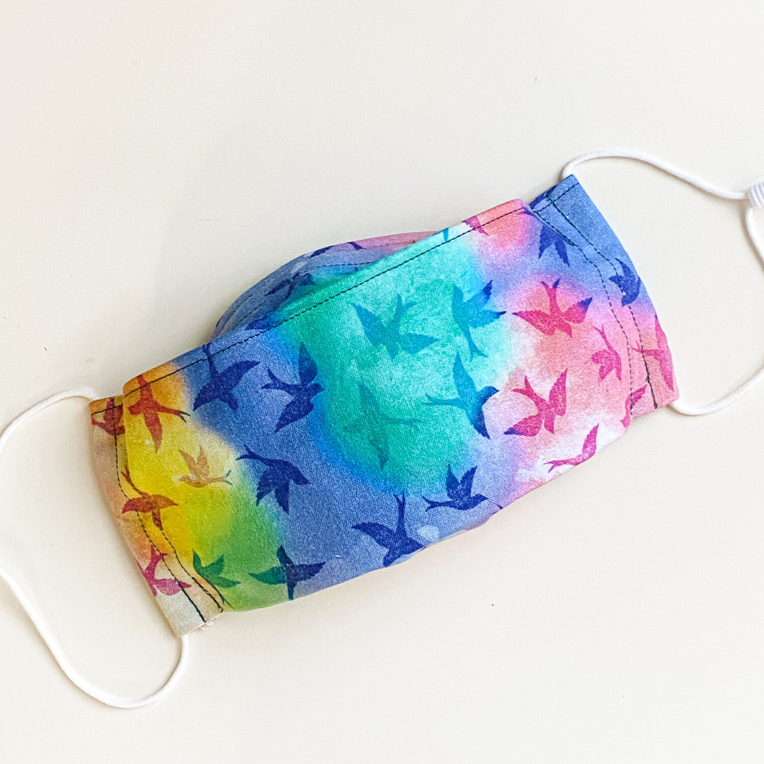 EasyFit Rainbow Birds Reusable Cloth Face Mask