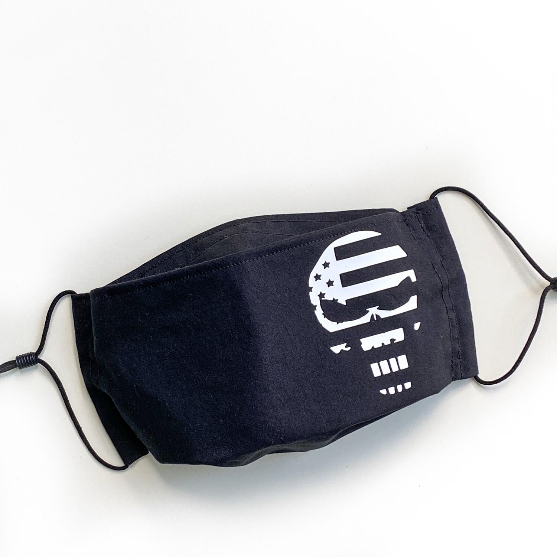 EasyFit Marvel The Punisher Skull American Flag Marine Corps Reusable Cloth Face Mask