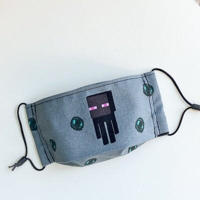 EasyFit Minecraft Nether Mobs Enderman Reusable Cloth Face Mask