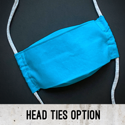 EasyFit Solid Turquoise Reusable Cloth Face Mask