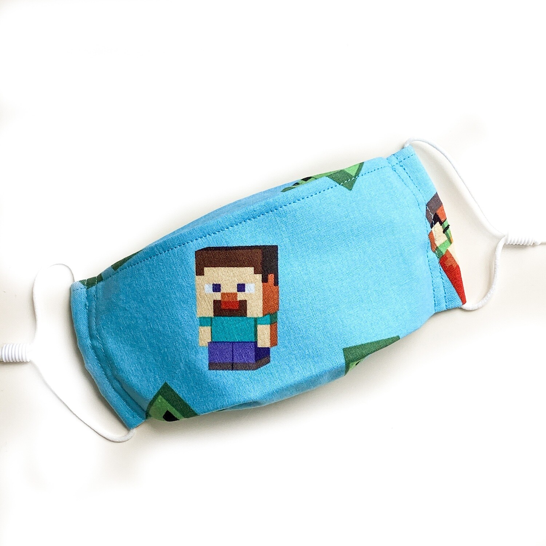 EasyFit Minecraft Creeper Reusable Cloth Face Mask