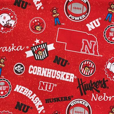 EasyFit College Nebraska Huskers Reusable Cloth Face Mask