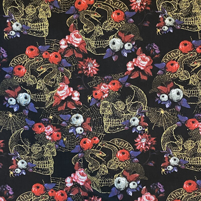 EasyFit Skulls Snakes and Roses Reusable Cloth Face Mask