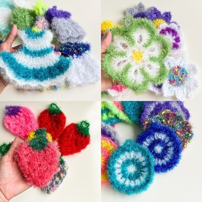 Crochet Dish Scrubbies - Eco-friendly, reusable, and handmade in the USA