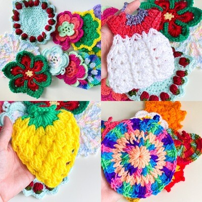 Cotton Crochet Dish Scrubbies - Eco-friendly, reusable, washable and cute!
