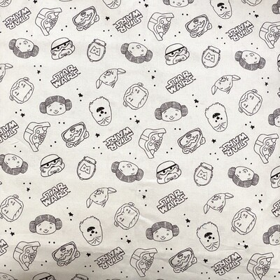 EasyFit Star Wars Doodles on Gray Reusable Cloth Face Mask