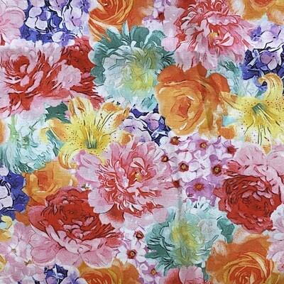 EasyFit Floral Print Spring Flowers Bouquet Reusable Cloth Face Mask