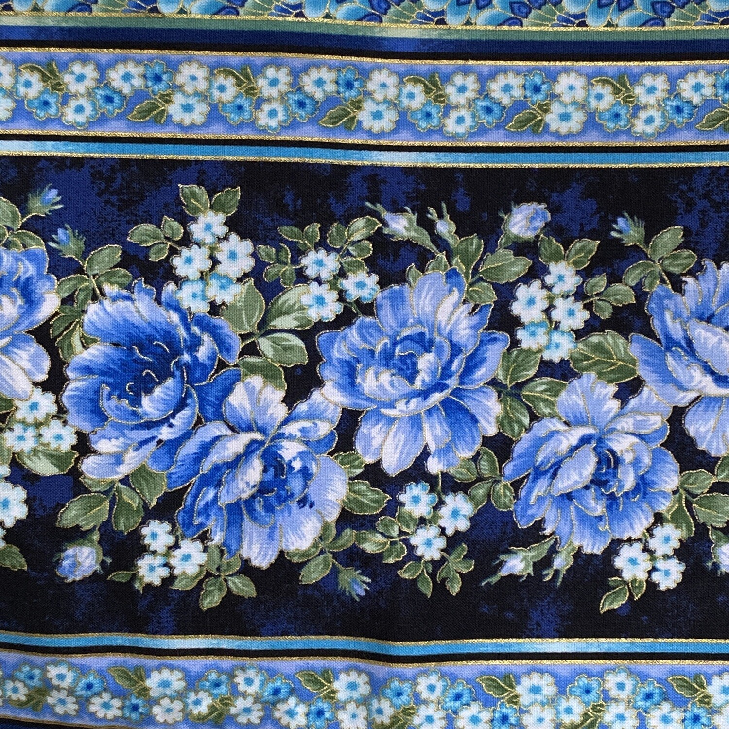 EasyFit Asian Inspired Blue Floral Reusable Cloth Face Mask