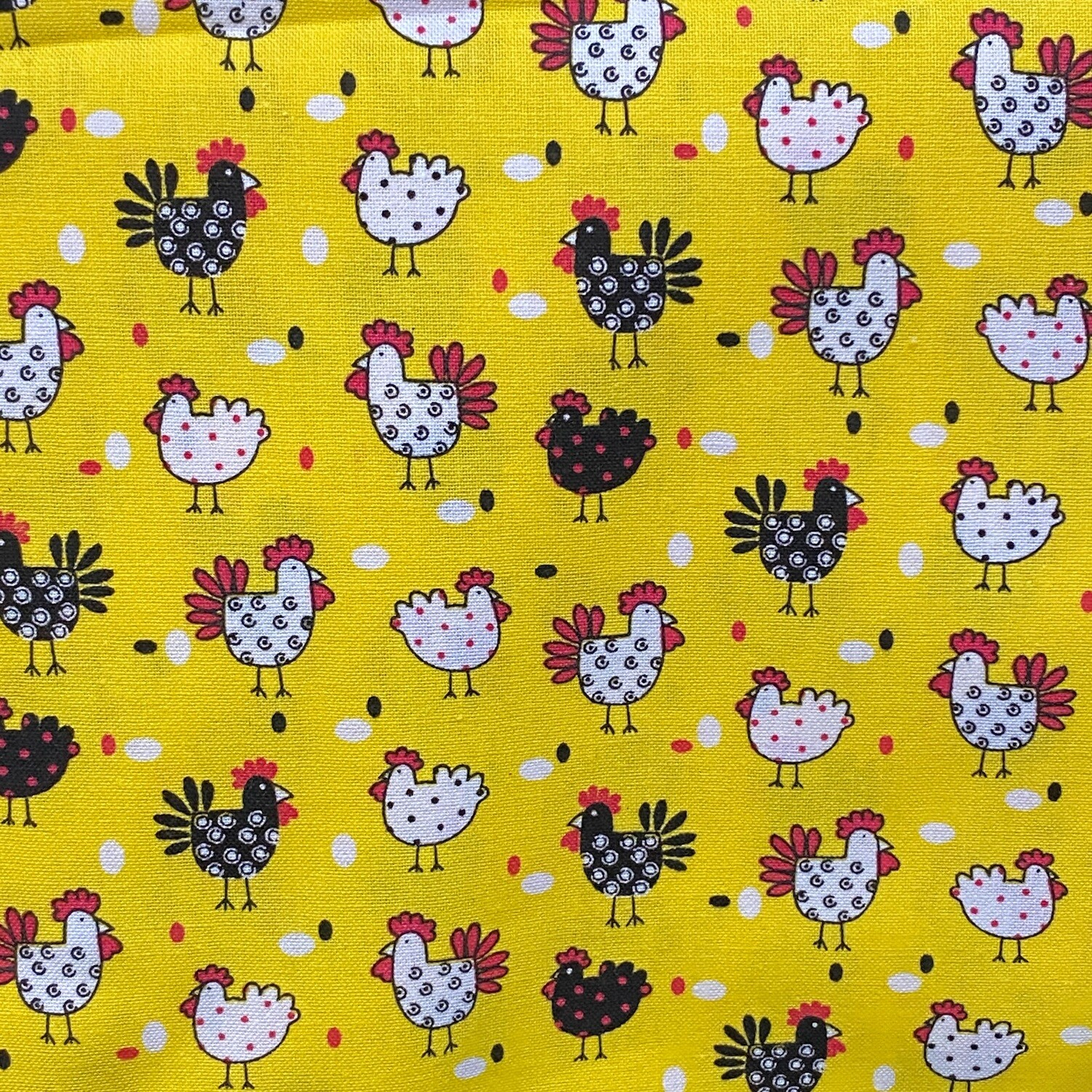 EasyFit Chickens on Yellow Reusable Cloth Face Mask