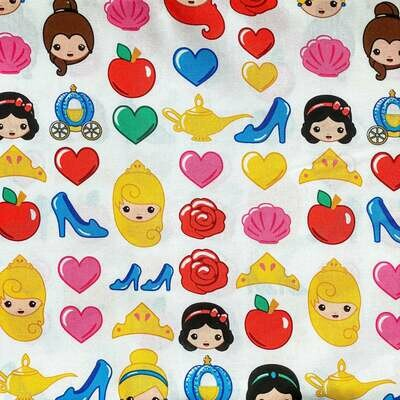 EasyFit Kawaii Disney Princess Reusable Cloth Face Mask