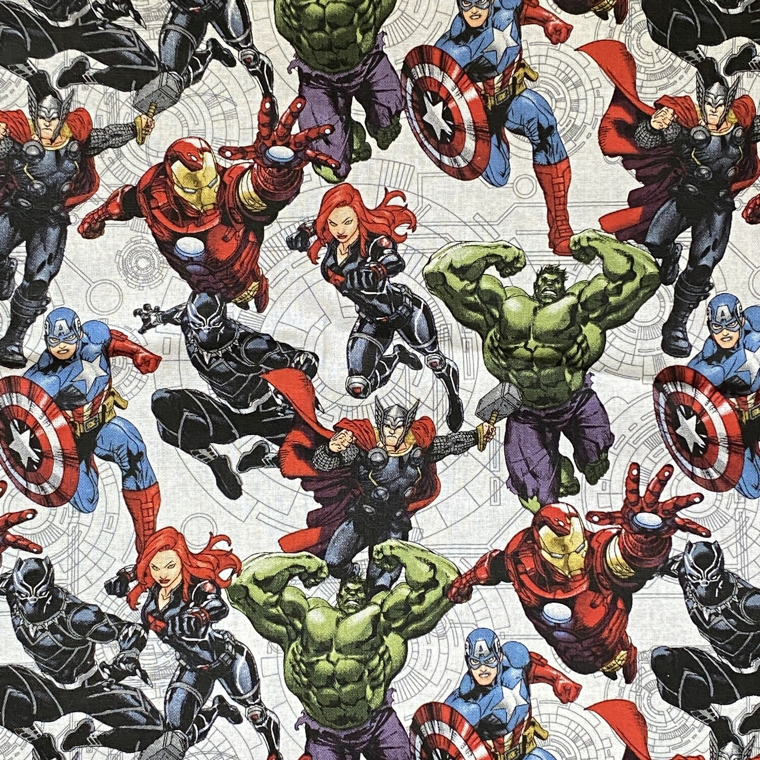 EasyFit Marvel Avengers on White Reusable Cloth Face Mask