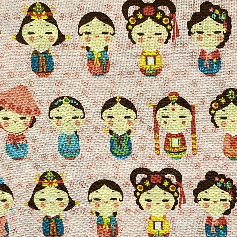 EasyFit Asian Inspired Korean Hanbok Dolls Reusable Cloth Face Mask