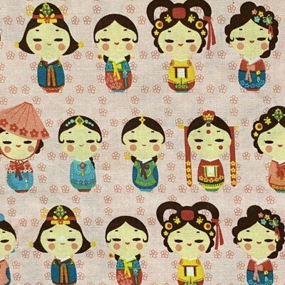 EasyFit Asian Inspired Korean Hanbok Dolls Reusable Cloth Face Mask