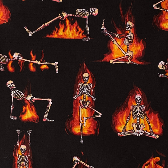 EasyFit Halloween Hot Yoga Skeletons Reusable Cloth Face Mask