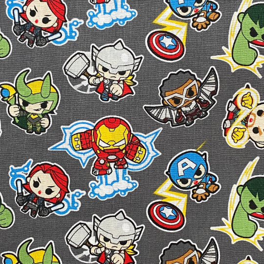 EasyFit Marvel Avengers Kawaii Gray Reusable Cloth Face Mask