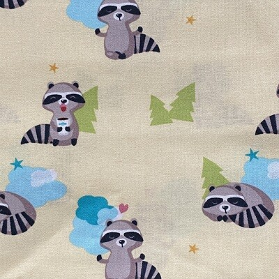 EasyFit Racoons on Yellow Reusable Cloth Face Mask