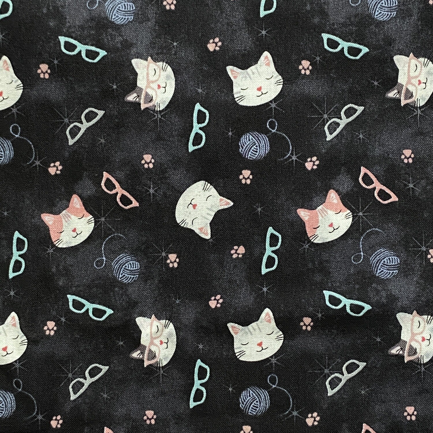EasyFit Cats with Glasses and Yarn Reusable Cloth Face Mask