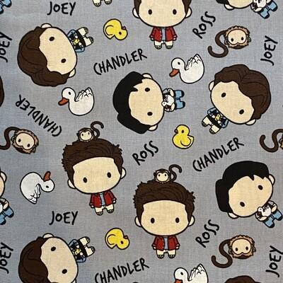 EasyFit Friends TV Show Chandler, Ross, Joey & Their Pets Reusable Cloth Face Mask