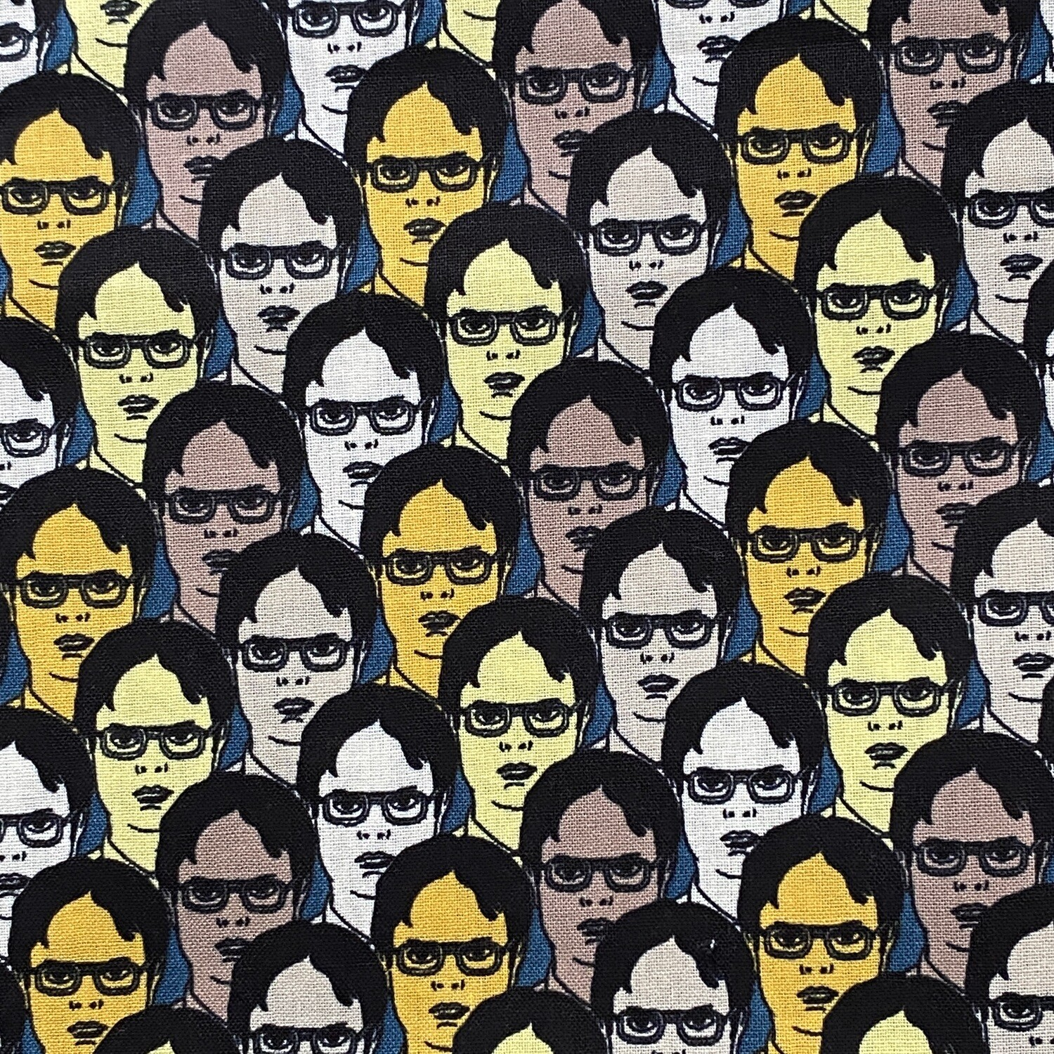 EasyFit The Office TV Show Dwight Schrute Faces Reusable Cloth Face Mask