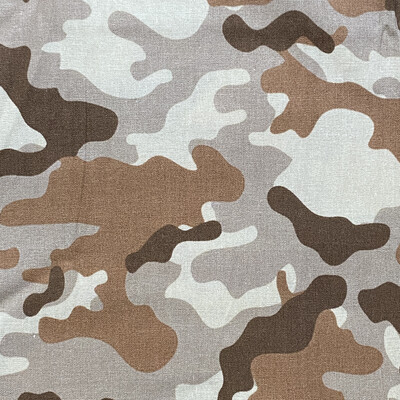 EasyFit Desert Brown Camouflage Military / Hunting Reusable Cloth Face Mask