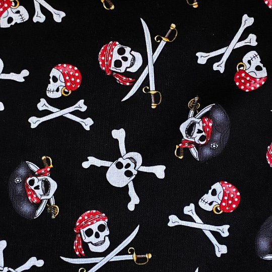 EasyFit Pirate Skull and Crossbones Reusable Cloth Face Mask