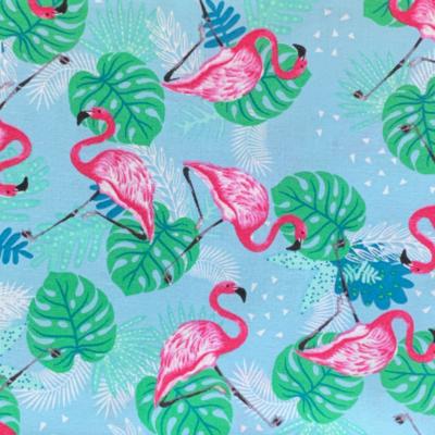 EasyFit Tropical Flamingos on Blue Reusable Cloth Face Mask