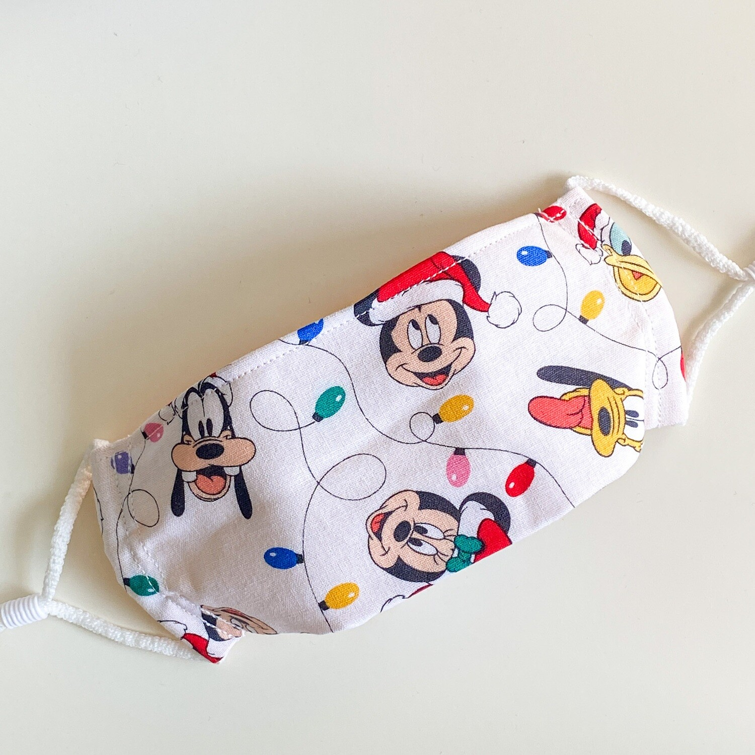 EasyFit Disney Mickey and Friends Christmas Lights Reusable Cloth Face Mask