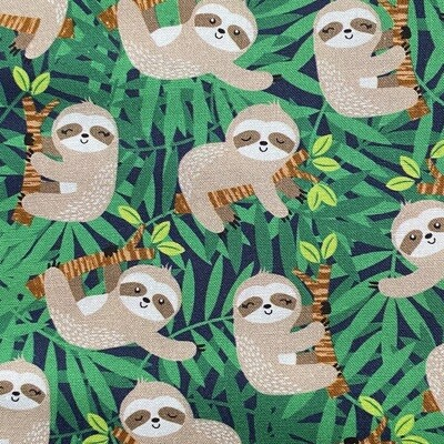 EasyFit Happy Sloths on Green Reusable Cloth Face Mask