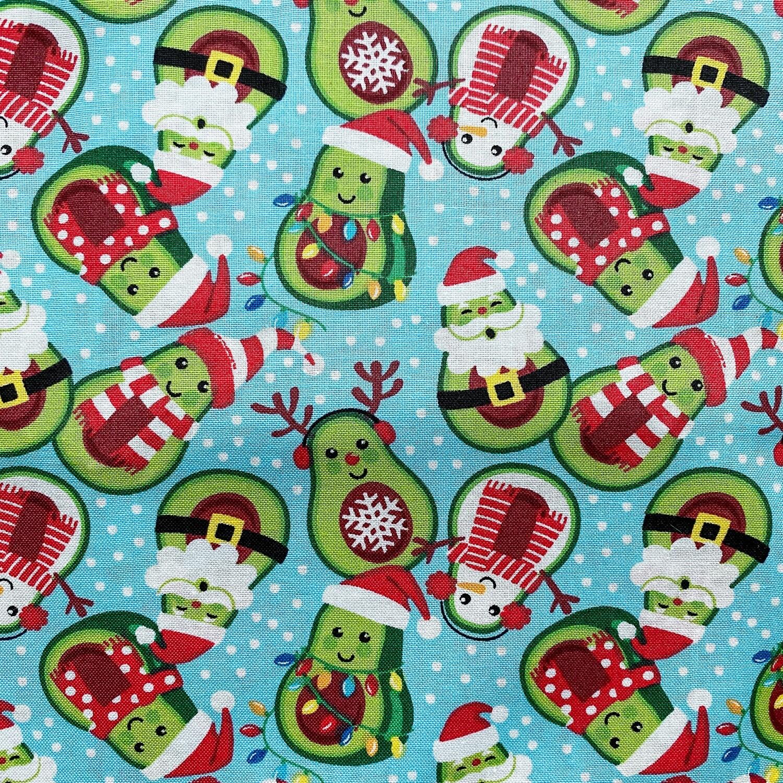 EasyFit Christmas Avocados Reusable Cloth Face Mask